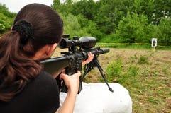 Women with gun Stock Photo