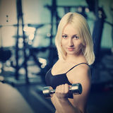 Young woman training Stock Photo