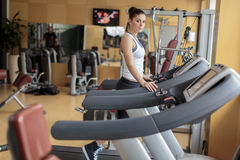 Young woman training in gym Royalty Free Stock Photography