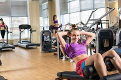 Young woman training Royalty Free Stock Images