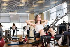 Young woman training Stock Image