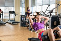 Young woman training Stock Photography