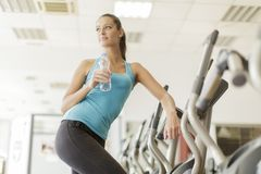 Young woman training in the gym Stock Photography