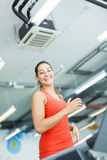 Young woman training in the gym Royalty Free Stock Images