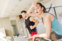 Young woman training in gym Royalty Free Stock Photo