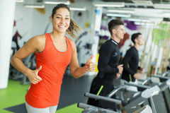 Young woman training in the gym Stock Image