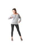 Young woman training rumba dance Stock Photography