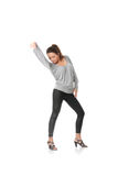 Young woman training rumba dance Royalty Free Stock Photography