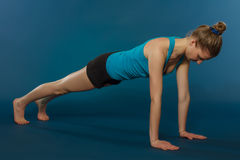 Young woman training yoga Royalty Free Stock Photo