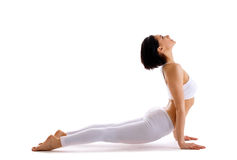 Young woman training yoga - upward facing dog Stock Photography