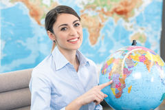 Young Woman Travel Agent Concept Royalty Free Stock Photo