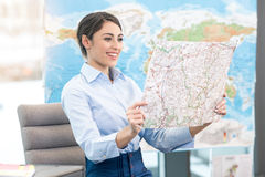 Young Woman Travel Agent Concept Stock Image
