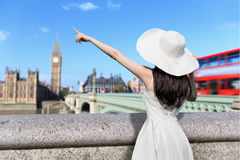 Young woman travel in london Stock Image