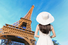 Young woman travel in Paris Stock Photography