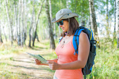 Young woman traveler Stock Image