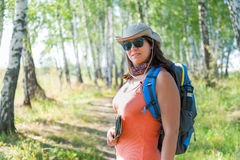 Young woman traveler Stock Photo
