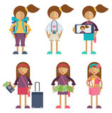 A young woman traveling Royalty Free Stock Images