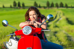 Young woman traveling in tuscany Royalty Free Stock Photos