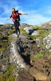 Trekking on Pico Volcano Stock Photo