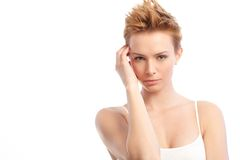 Young woman with trendy hair style Royalty Free Stock Photography