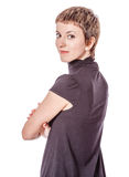 Young woman turning Royalty Free Stock Images