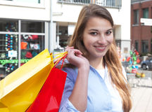 Young woman with two shopping bags Stock Image