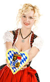 Young woman in typical bavarian dress. Dirndl Royalty Free Stock Image