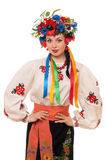 Young woman in the Ukrainian national clothes Stock Photo