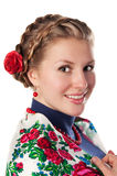 Young woman in the ukrainian style Royalty Free Stock Image