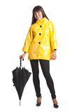 Young woman with umbrella Stock Photos