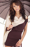Young woman with umbrella. Royalty Free Stock Photos