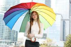 Young woman with umbrella Royalty Free Stock Images