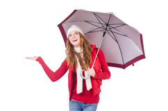 Young woman with umbrella Royalty Free Stock Photography
