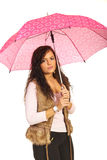 Young woman under umbrella Royalty Free Stock Images