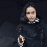 Young woman under umbrella - close up Stock Photos