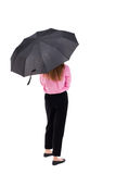 Young woman under an umbrella Royalty Free Stock Images