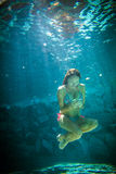 Young woman underwater Stock Image