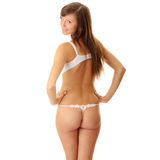 Young woman in underwear Stock Photography