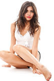 Young woman in underwear Royalty Free Stock Photography