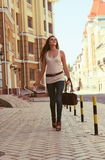 Young Woman on the Urban Street Stock Photos