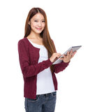 Young woman use digital tablet Stock Photography