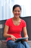 young woman use tablet Royalty Free Stock Photos
