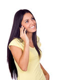 Young Woman Using a Cell Phone Stock Photos