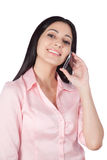 Young Woman Using Cell Phone Stock Photography
