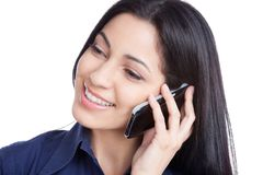 Young Woman Using Cell Phone Royalty Free Stock Image