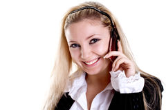 Young woman using cellphone Royalty Free Stock Photo