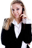Young woman using cellphone Royalty Free Stock Images
