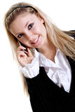 Young woman using cellphone Stock Photography