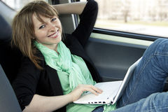 Young woman using laptop Royalty Free Stock Photo