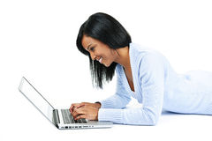 Young woman using laptop computer Royalty Free Stock Photo